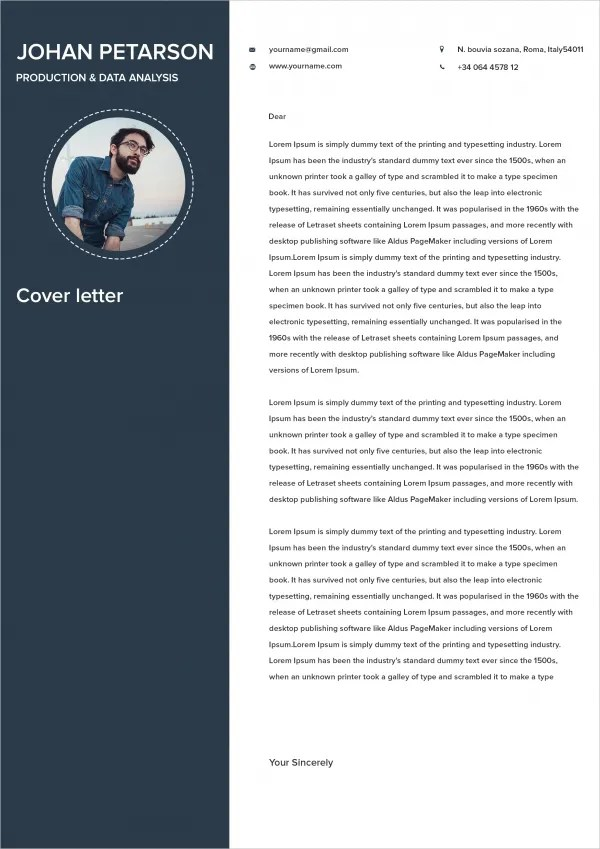 Cover Letter Text Resume Format