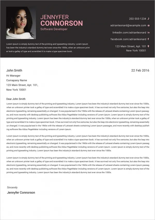 21 Cover Letter Free Sample Example Format Free