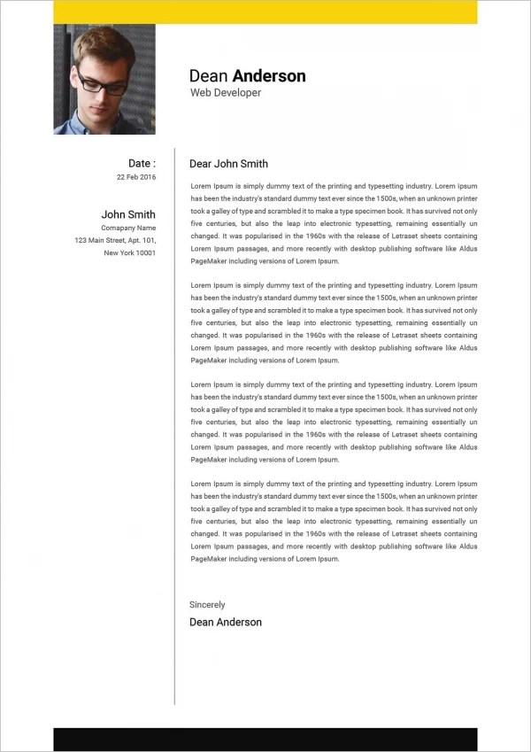 Cover Letter For Web Developer Internship
