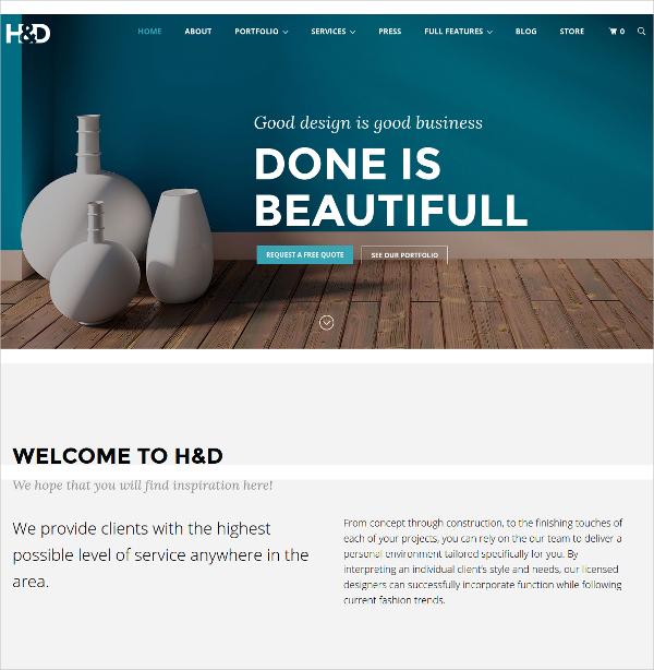 Archi Interior Design WordPress Theme Free Brokeasshome Com
