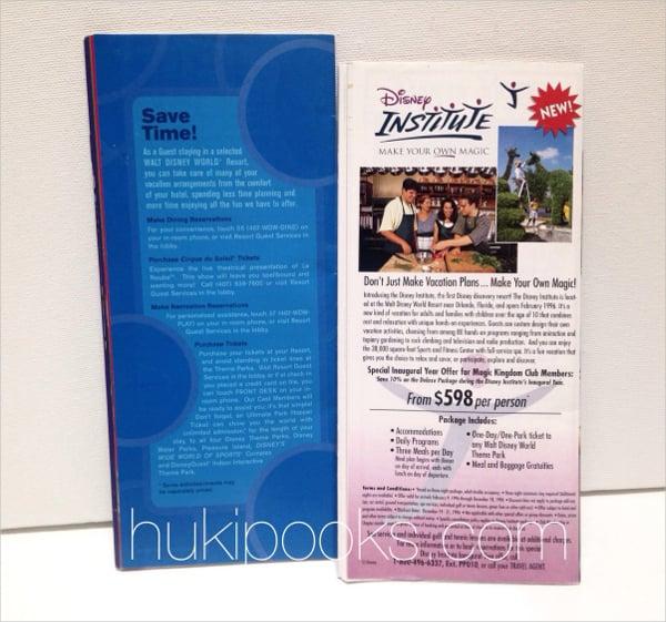 single fold brochure template free download