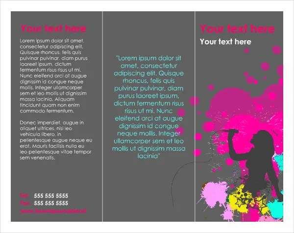One Page Brochure Template 18 Free PSD AI Vector EPS Format