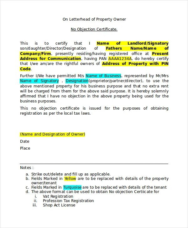No-Objection-Certificate-Format- Template Cover Letter For Sales Istant on letter of application for sales, home for sales, cover letter samples for sales, professional cover letter for sales, examples of cover letters for sales, thank you letter for sales, table of contents template for sales, resume for sales, job cover letter for sales, letter of recommendation template for sales,