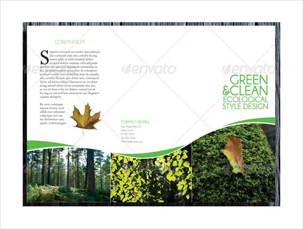 17 Environmental Brochure Templates Free PDS AI Vector EPS