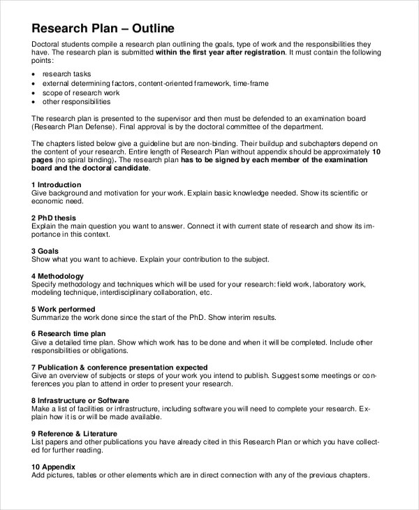 Research Timeline Template 7 Free Word PDF Document Downloads