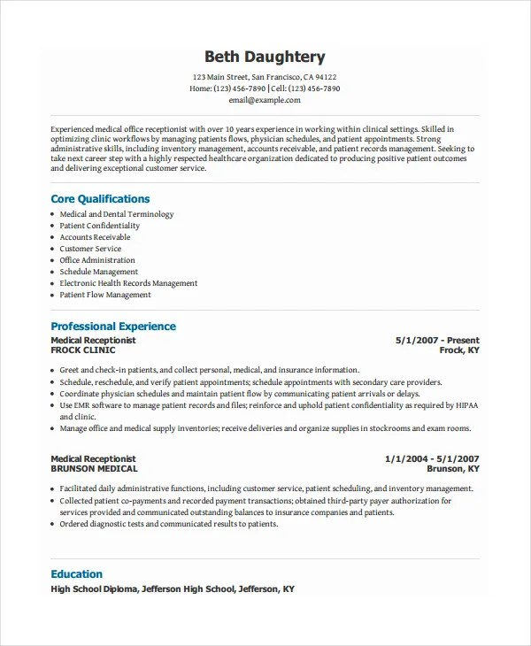 Receptionist Resume Unforgettable Receptionist Resume Examples To