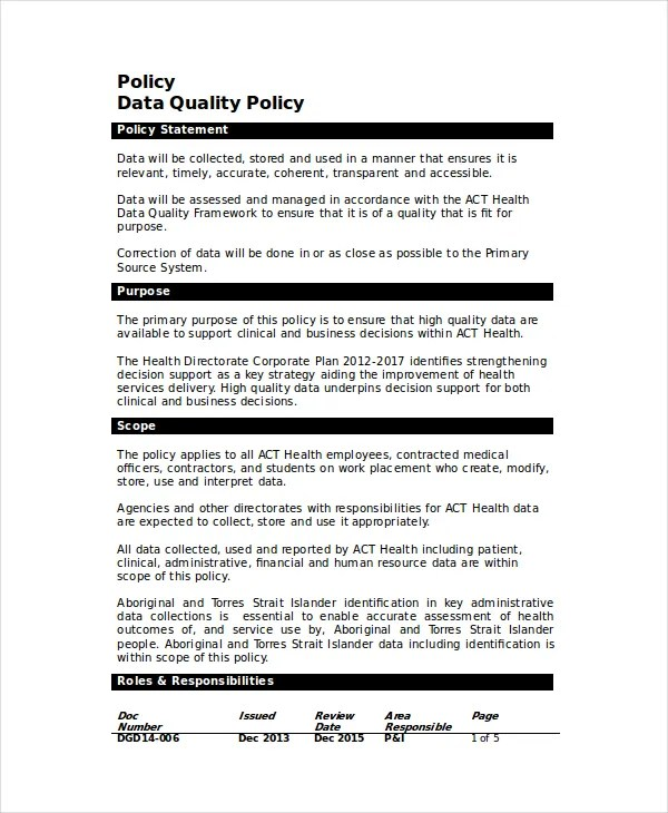 Read our report on diversity, equity &. Quality Policy Template 8 Free Word Pdf Documents Download Free Premium Templates