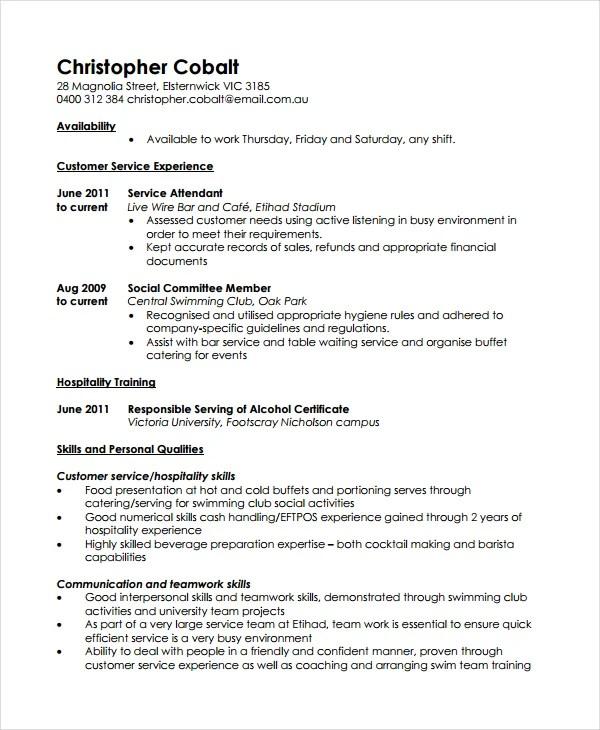10+ Work Resume Templates  Pdf, Doc  Free & Premium