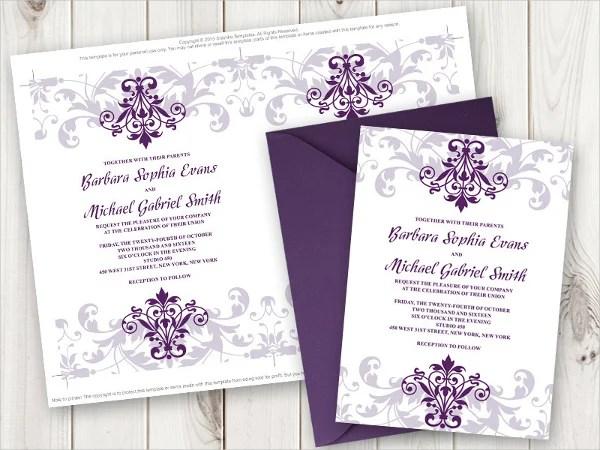 Elegant Iron Work Wedding Invitation Template