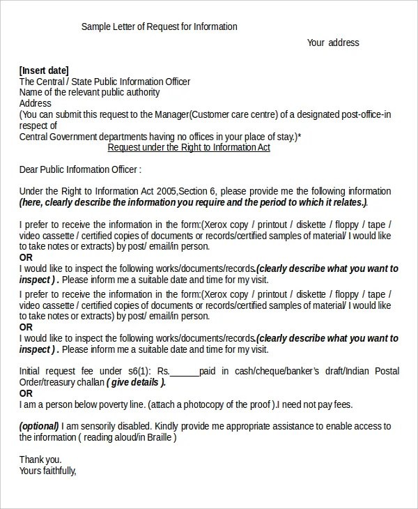 Letter Format 14 Word PDF Documents Download Free