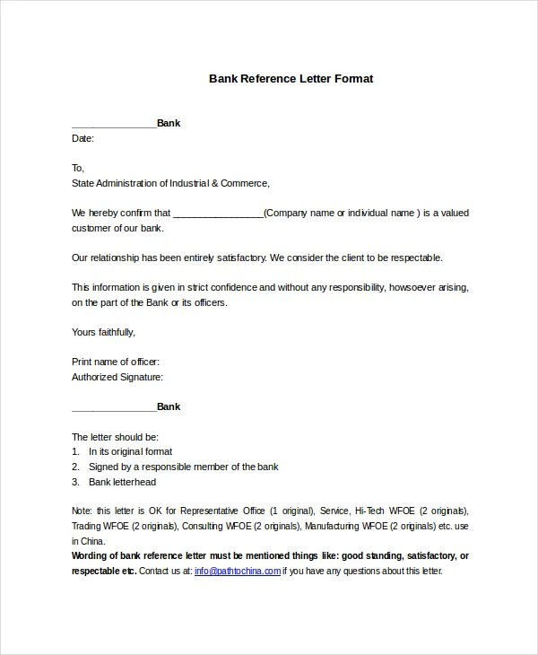 Letter format confirmation of balance letter format sample reference sample of bank reference request letter spiritdancerdesigns Image collections