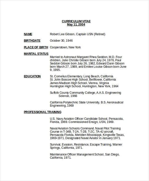 Pilot Resume Template - Resume Sample