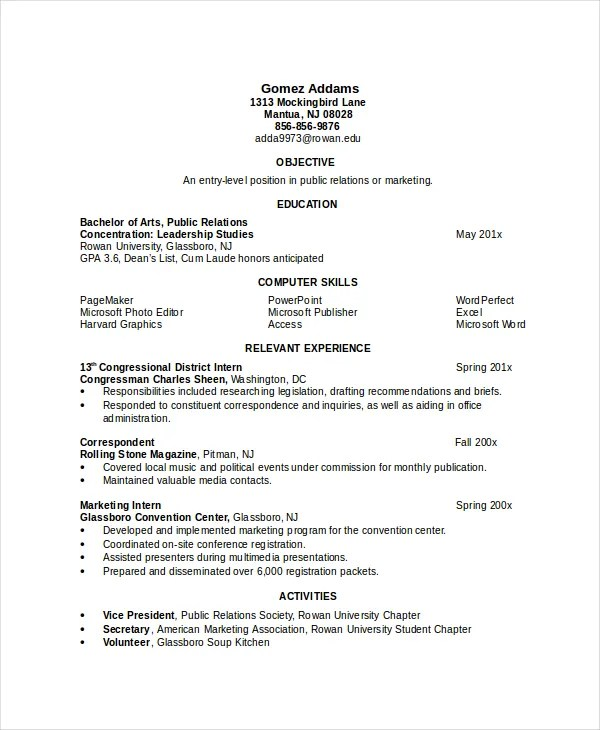 7 Engineering Resume Template Free Word PDF Document Downloads
