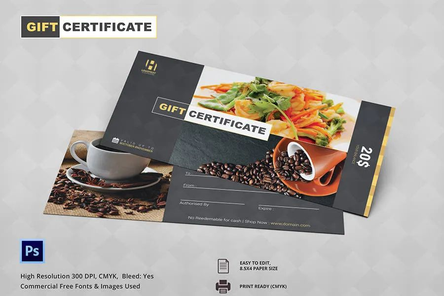 printable gift certificate template free