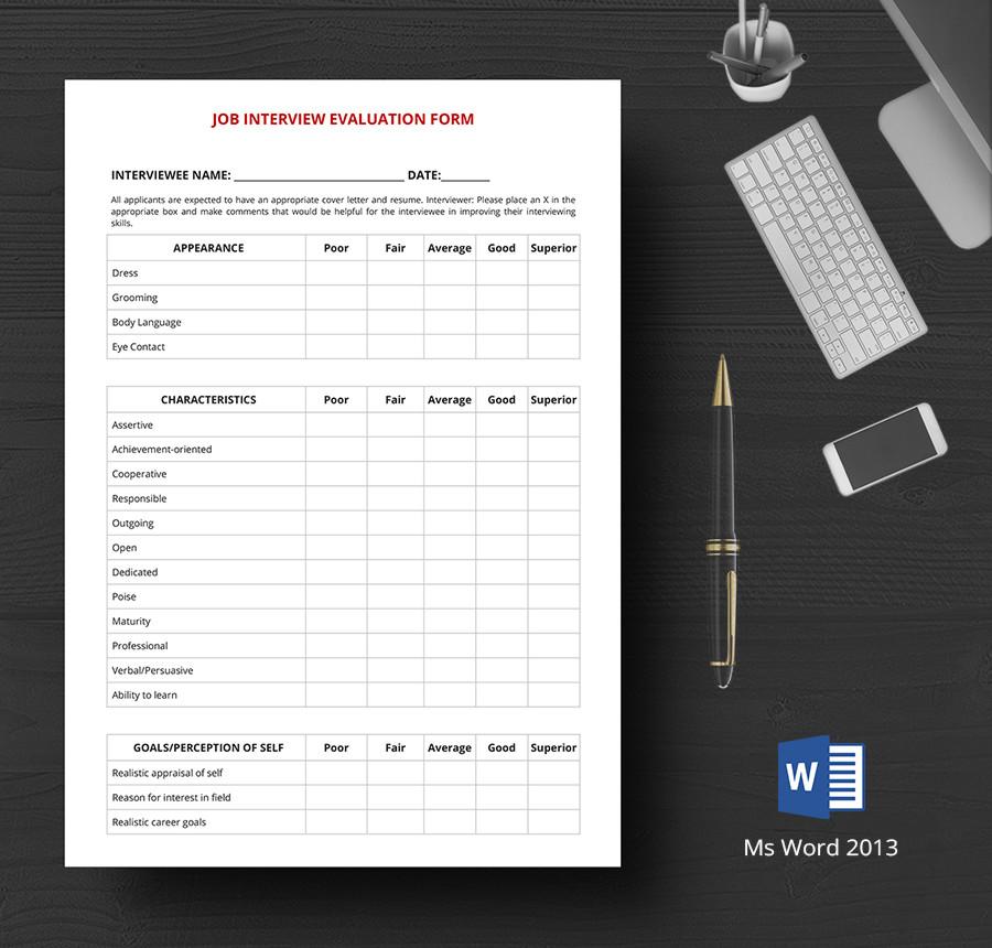 job evaluation form