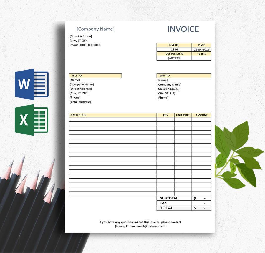 written invoice