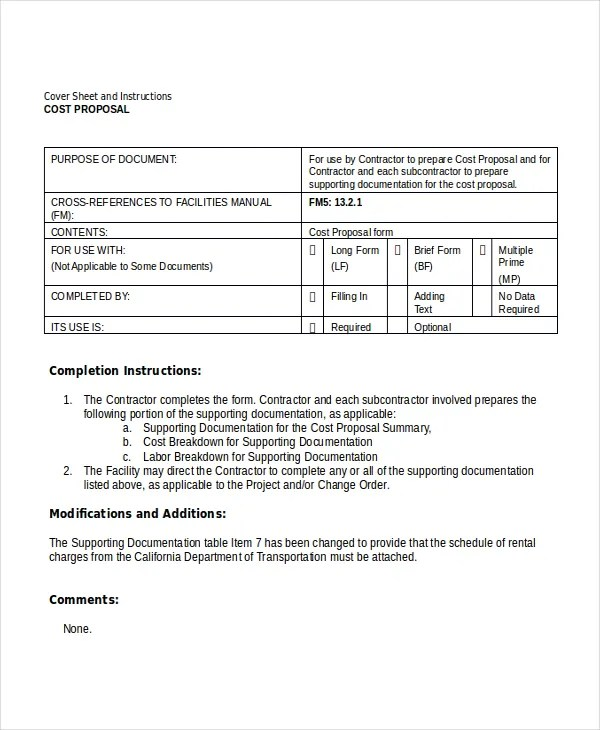 Proposal Template 8 Free Word PDF Document Downloads