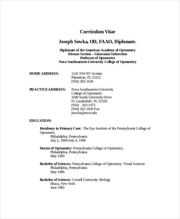 nova resume template