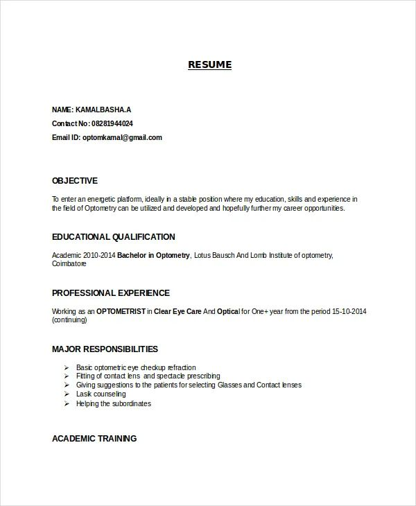 career objective templates for resume