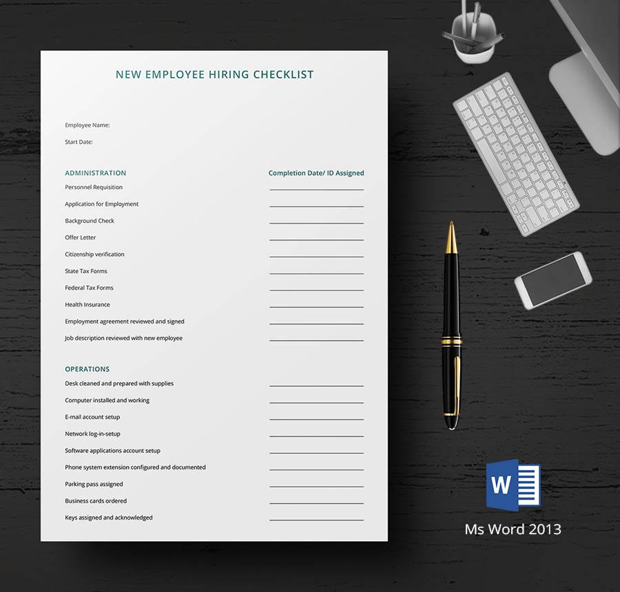 8 Free HR Checklist Templates Employee Orientation