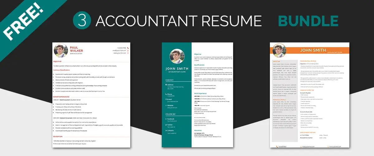 resume templates accounting professionals