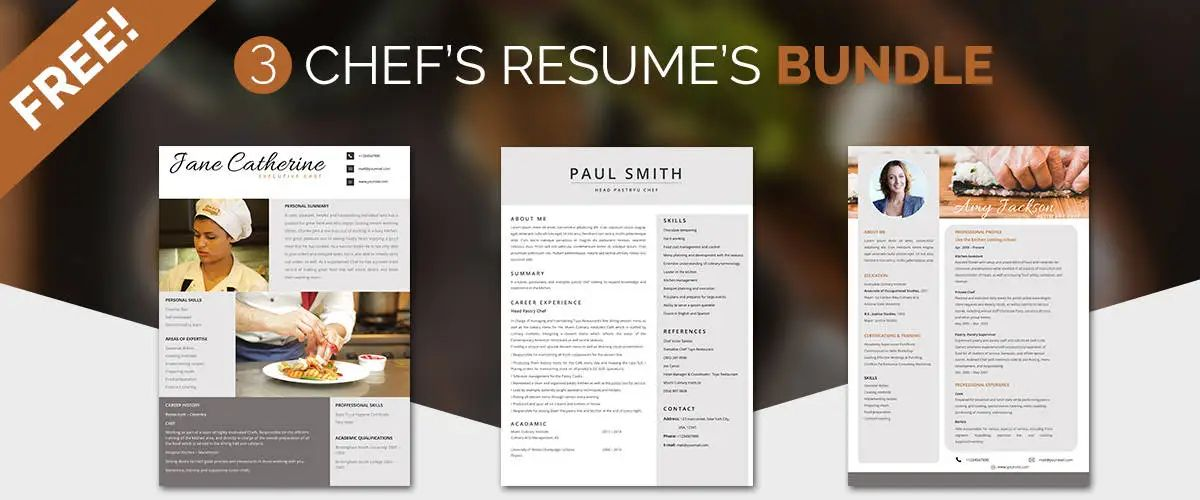 resume templates for chef