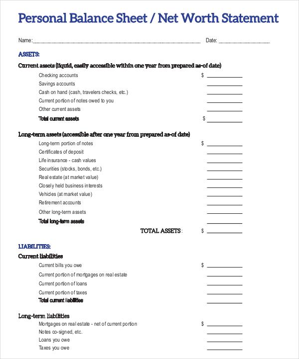 18+ Balance Sheet Examples - Download in Word, PDF | Free & Premium ...