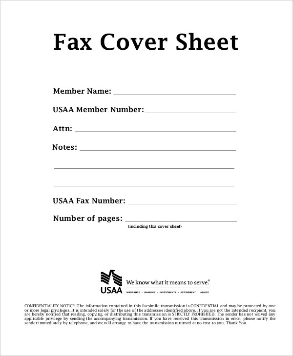 Fax Cover Sheet Template  15 Free Word PDF Documents Download  Free  Premium Templates