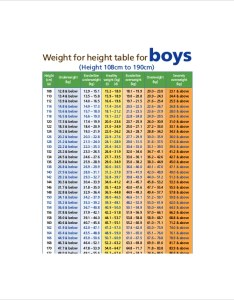 Weight height chart for boys example also templates boy free sample format rh template