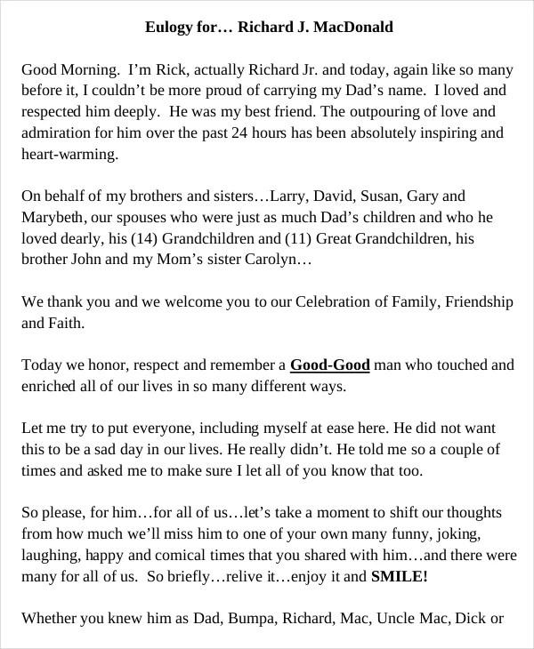 example obituary