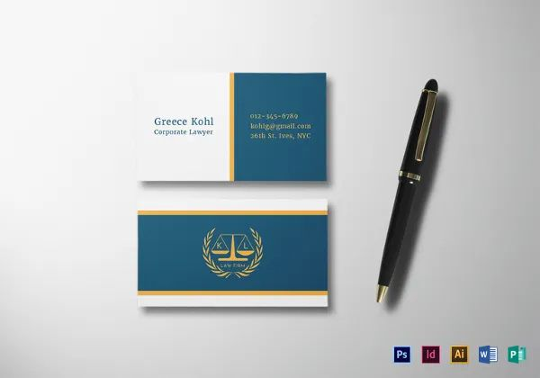 business card publisher template