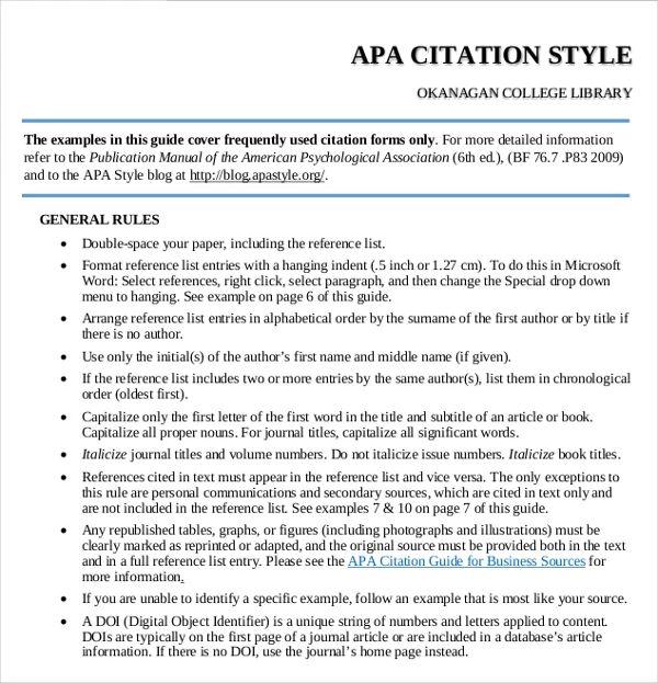 apa formatting sample paper