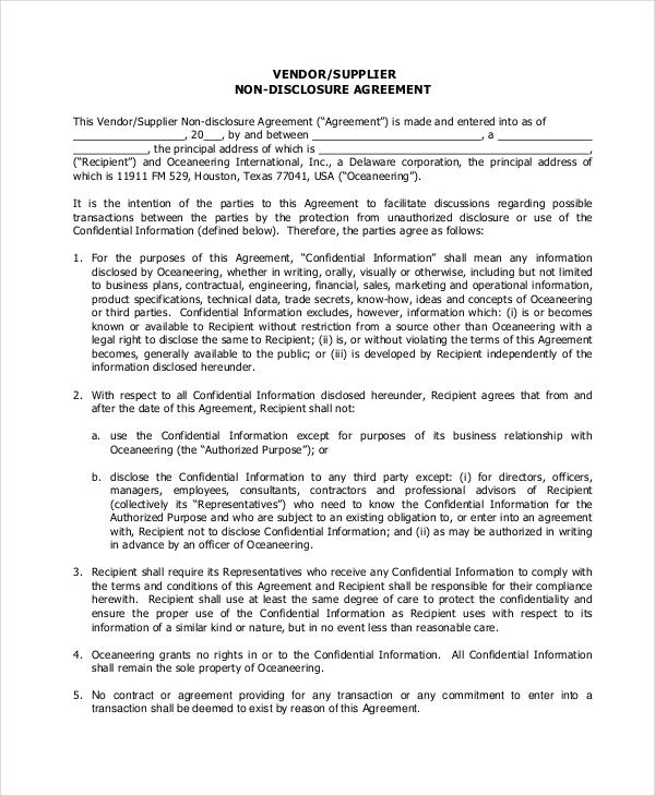 preferred vendor agreement template - sample vendor contract northgate vendor agreement