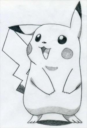 easy drawings drawing pikachu sketches