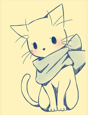 easy drawing kitty drawings