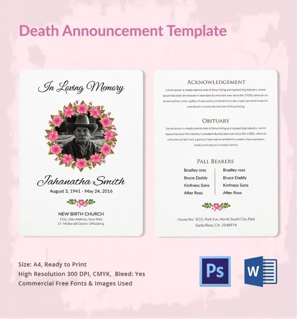 Death Announcement Template on Monte Carlo Wiring Diagram Manuals