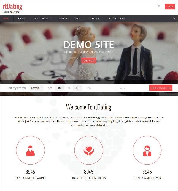 15+ Dating Website Themes & Templates   Free & Premium Templates