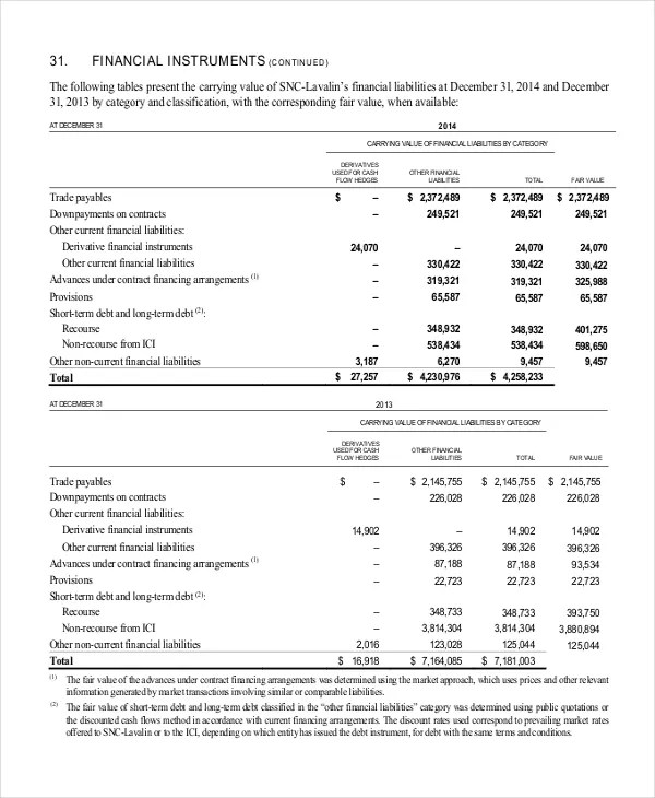 Financial Statement Analysis Example Hospi Noiseworks Co