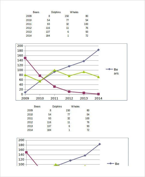 excel line graph templates
