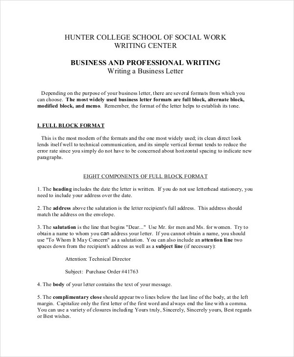The Types Of Business Letter Sample Pdf {Forum Aden}