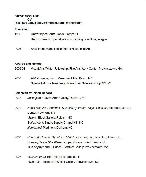 35 Sample CV Templates  PDF DOC  Free  Premium Templates