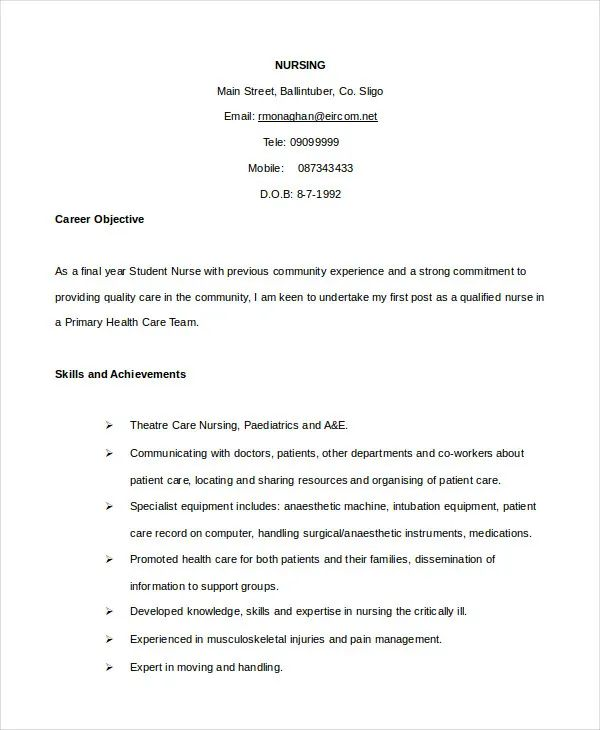 free download cv format in pdf