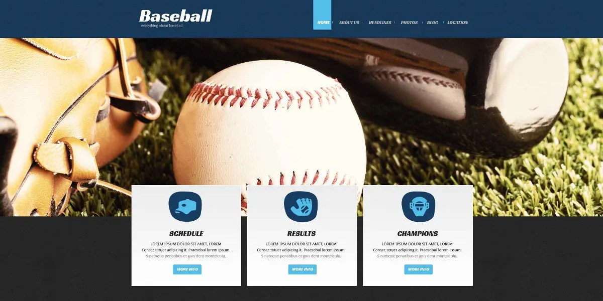 baseball websites templates ferdin