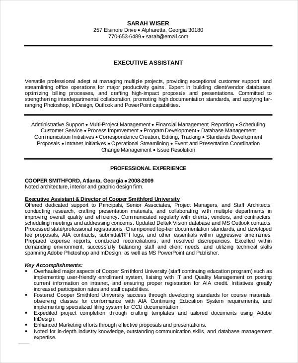 administrative assistant objective resume sample
