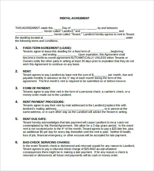 You can take any agreement template given here in word format and download them. Free Rental Agreement Template 24 Free Word Pdf Documents Download Free Premium Templates