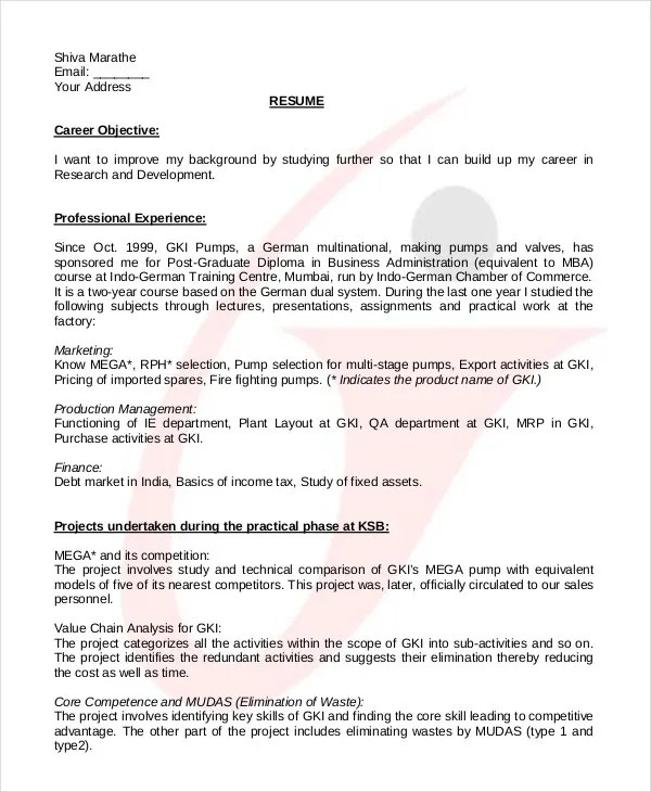 College Student Resume - 7+ Free Word, PDF Documents Download   Free ...