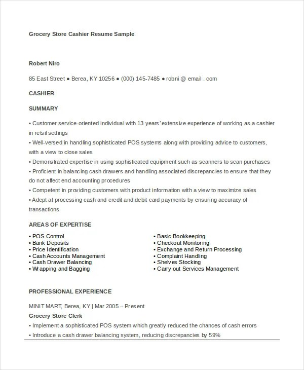 grocery store resume professional grocery store clerk templates - Grocery Store Produce Resume Sample