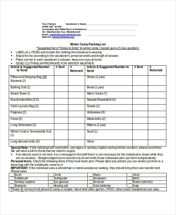 Travel Packing List - 10+ Free Word, PDF, PSD Documents Download ...