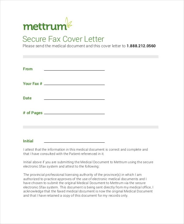 Fax Cover Letter  8 Free Word PDF Documents Download  Free  Premium Templates