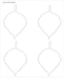 template leaf templates pear pdf psd